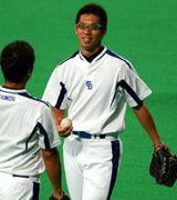 ナゴヤドームで調整した山井大介投手