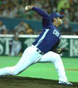 ソフトバンクとのオープン戦で先発した朝倉健太=ヤフードーム