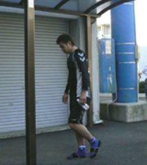 ナゴヤ球場での秋季練習に姿を見せた朝倉健太
