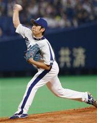 阪神戦に先発して7回4安打2失点で2勝目を挙げた浅尾拓也=ナゴヤドーム