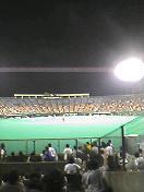 観戦した外野スタンドからホーム=富山アルペンスタジアム