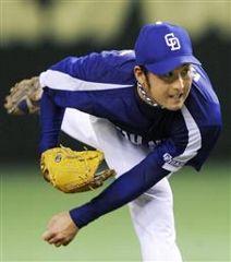 巨人戦に先発して5回無失点で今季初勝利を挙げた川井雄太=東京ドーム