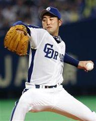 先発して6回1安打無失点で2勝目を挙げた川井雄太=ナゴヤドーム