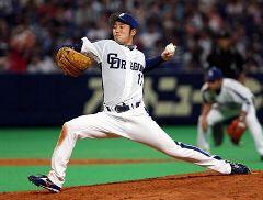 西武戦に先発して6回2失点で4勝目を挙げた川井雄太=ナゴヤドーム