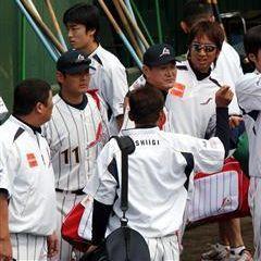 北京五輪野球日本代表合宿の川上、岩瀬、藤川、和田ら投手陣=ジャイアンツ球場