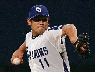 川上憲伸の力投で日本シリーズ初戦勝利=ナゴヤドーム
