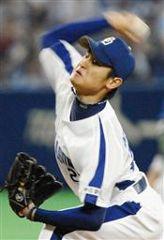 6回1失点で7勝目を挙げた中田賢一=ナゴヤドーム
