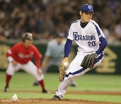 アジアシリーズSK戦に先発して6回3失点の中田賢一=東京ドーム