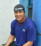ナゴヤ球場で休日返上トレーニングを行ったサンティアゴ・ラミレス投手